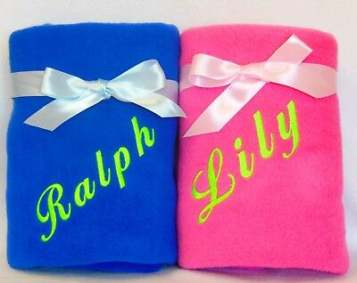 Personalised Dog Blanket, Puppy Blanket, Cat  Blanket With Your Pets Name