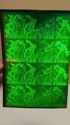 Huge Hologram Lot - Uncut Spiderman vs Venom Sheet, Superman Red Beam, Xmen Cel