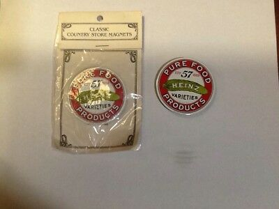Heinz Pure Food Products Porcelain Enameled Magnets by Ande Rooney