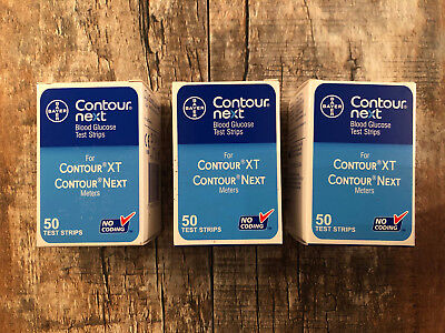 Contour Next Blood Glucose Test Strips 150 Test Strips x3 New Pack of 50