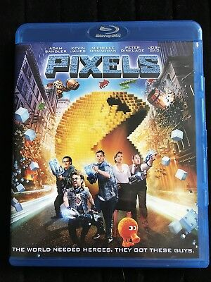 Pixels (Blu-ray Disc, 2015) Mint Condition