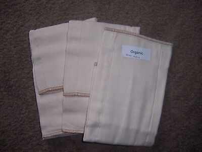 OSOCoZY Organic prefold infant cloth diaper lot arpox 15 in by 11 inch