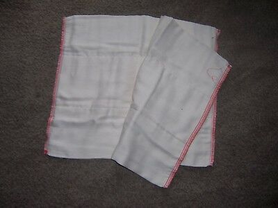 OSOCoZY 2  prefold  cloth diaper lot arpox 13 in by 15  inch