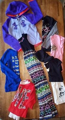 Girl's 7 Pc Clothes Lot Justice Under Armour Jacket Dress Tops Shirt - Size 6