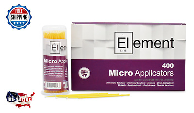ELEMENT 400 Micro Applicator Microapplicators Microbrush Dental - SMALL/Yellow
