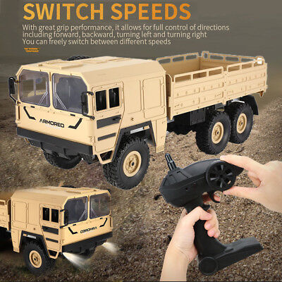 Off-Road 1:16 2.4GHz 6WD RC Car Military Truck Rock Crawler Kids Gifts Presents