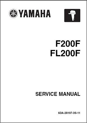 Yamaha F200 / FL200 4-Stroke Outboard Motor Service Repair Manual CD