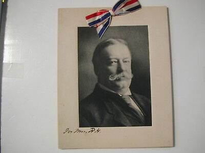 1919 William Howard Taft menu from Hanover PA event