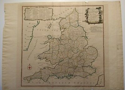 Antique Map of England and Wales by Thomas Kitchin 1784