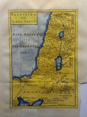 Antique Map of Palestine and the Holy Land by Christoph Cellarius 1764