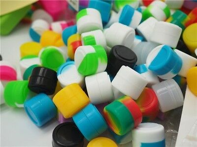 50pcs 2ml Silicone Container Jar Non-Stick Mixed colors Round Dab Concentrate