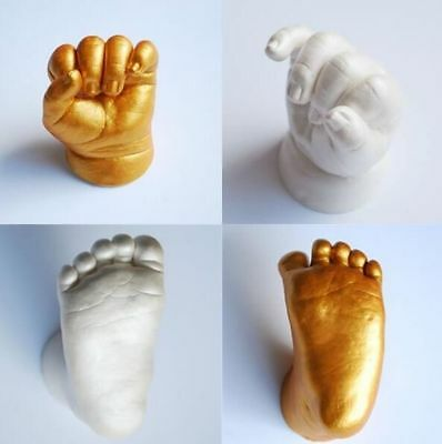 3D Hand & Foot Print Mold For Baby Powder Plaster Handprint Footprint  Memorial