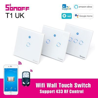 Sonoff T1 UK Smart Wifi Wall Touch Switch Wall Light Switch 433 RF Ewelink APP