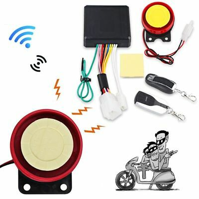 Universal Motorcycle Alarm System Scooter Anti-theft Security Remote Control
