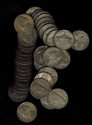 U.S.A: Lot of 38 Silver Nickles 1942-1945