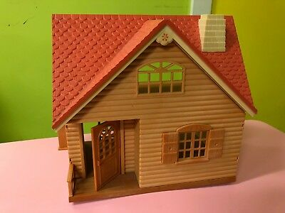 Calico Critters Log Cabin Cottage Dollhouse - Retired - Epoch