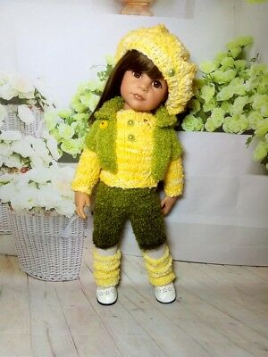 Knitted suit for Gotz doll 18-19 inches
