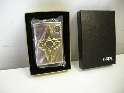 Zippo South West Navajo Brass Lighter Year 1995 336 *new Plastic Sealed