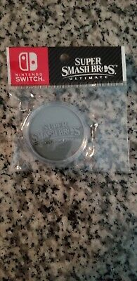 Super Smash Bros Ultimate Collectible Antique Silver Coin!  Brand New and Sealed