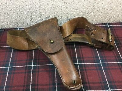 WWI US Army Leather Holster - Rock Island Arsenal 1916 T.C.C. W/ Belt