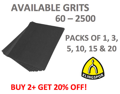 Wet And Dry Sandpaper 60 - 2500 Grit Flexible Waterproof Auto Paper