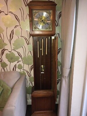 Longcase  Westminster Chime Grandfather Clock, full working order - collect B63