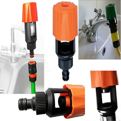 Kitchen Garden Hose Pipe Connector Round Square Mixer Multi Tap Adaptor Fitting*