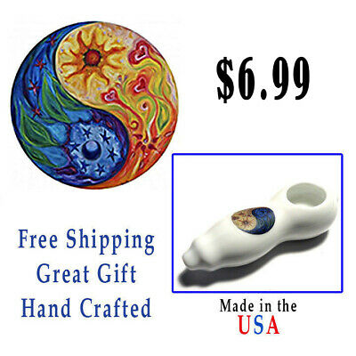 $6.99 Buy 1 Get 1 Free  COLLECTIBLE TOBACCO PIPE - HAND SMOKING - Glass - Metal