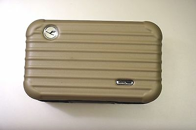 Lufthansa First Class Rimowa Amenity Kit for Ladies in Matte Gold