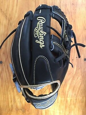 """Rawlings Heart of The Hide 11.5"""" Infield Glove Pro 204-2BGD Black & Gold"""