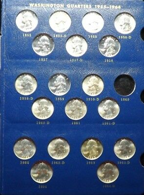 19  All Different UNC amd Proof  Silver  Washington Quarters   In An Album Page