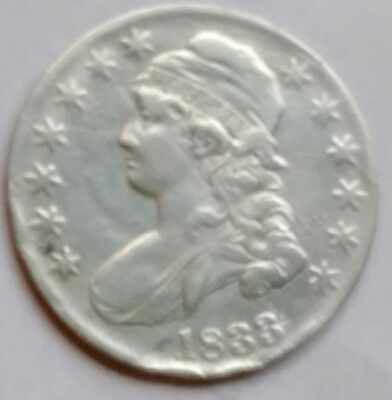 1833 capped bust half dollar f-vf
