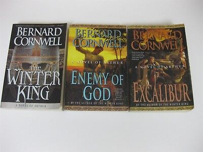 Bernard Cornwell Lot All 3 Warlord Chronicles Winter King Enemy of God Excalibur