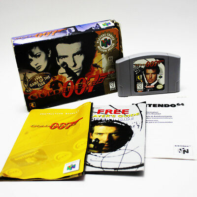 GoldenEye 007 Nintendo 64 N64 1997 w/ Box Manual Game TESTED FREE FAST SHIPPING