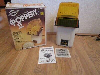 West Bend Poppery II Hot AIr Corn Popper 1200 Watts- 82102