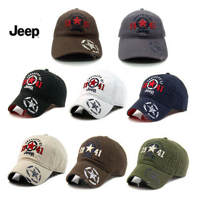 New 1941 Black Jeep Hat Cap Women Men Unisex baseball Golf Ball Sport cap 355adc12ee3a