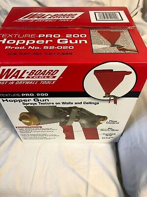 Wal-Board Tools Texture-Pro 200 Hopper Gun with 3 Spray Tips NEW