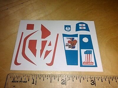 """Evel"" STUNT CYCLE/STUNT BIKE VINYL STICKERS knievel"