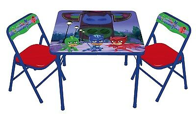 Disney PJ Masks Erasable Activity Draw Table Chair Set Boys Kids Girls Bedroom