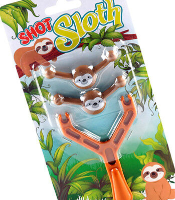 Smile Sloth Slingshot Boys Girls Shooting Toy Gift Birthday Party Bag Filler