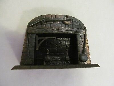 Vintage Durham 1976 Die Cast Miniature Fireplace w/ Shotgun Pencil Sharpener