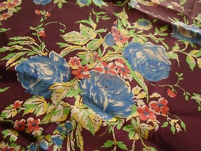 Vintage Fabric, Silky Synthetic with Great Drape