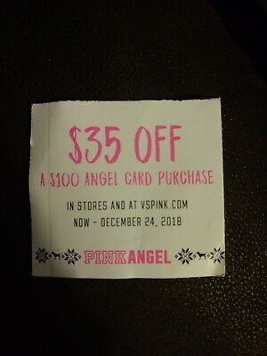 Victoria's Secret $35 off $100 angel card purchase Online only exp December 24th