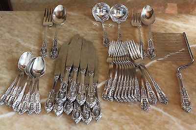 Rose Point By Wallace sterling silver flatware ( 40 pieces )