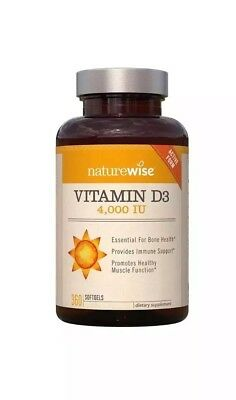 NatureWise Vitamin D3 4,000 IU 360 Softgels Healthy Muscle, Bone, Immune Support
