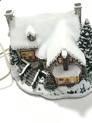 "2001 Thomas Kinkade's Hawthorne Village Christmas ""Yuletide Bakery"" Lighted"