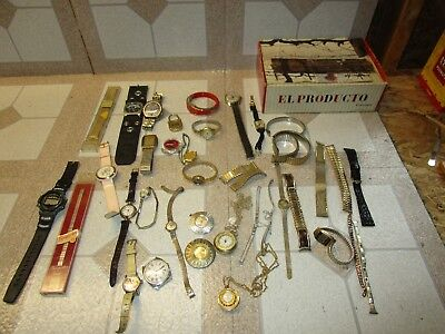 Vintage Junk Drawer Lot Of Watches