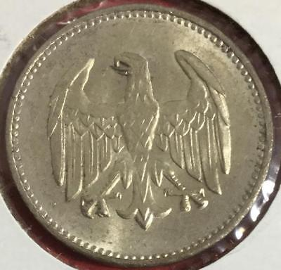 1924 Brilliant Uncirculated SILVER 1 Mark Coin Germany! Beauty