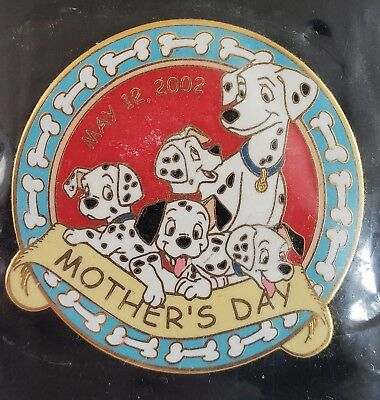 Disney Dlr Mother's Day 2002 101 Dalmatians Le 2000 Sold Out Htf Pin-Free Shpg!