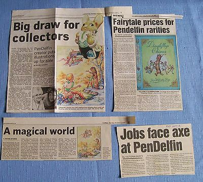 Pendelfin  UNUSUAL HISTORICAL NEWSPAPER CLIPPINGS 2003 & 2005